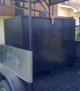 Water Pan Smoker - Custom-Built Hog Cooker